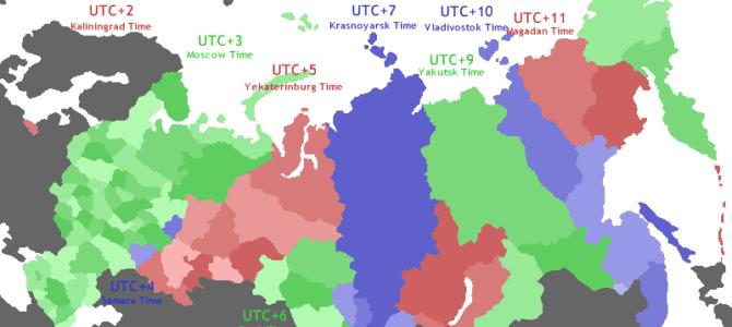 Vremenske zone u Rusiji